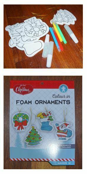 foam Christmas ornament craft kit