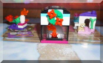 A Lego fire under a wreath