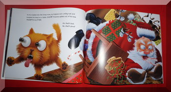image of Santa falling from That's good, that's bad book