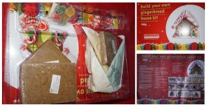 Inside and outside of the gingerbread house kit