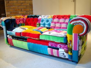 colourful patchwork couch