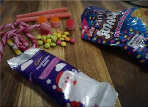 Some lollies ready to use in decorating the gingerbread