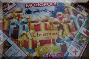 Game board for Christmas Monoply
