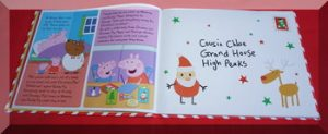 Inner pages of Peppa's Christmas Post