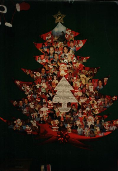 Christmas tree made of a collage of photos