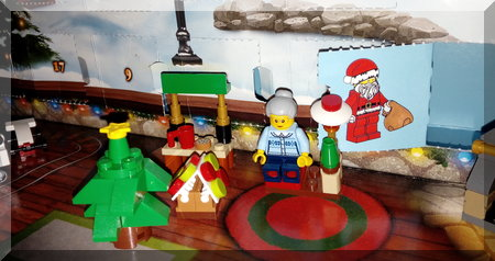 Lego advent calendar Santa flap
