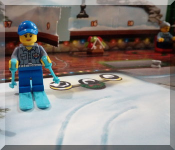 Lego snow skiier