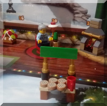 Food stall for the Lego City advent calendar