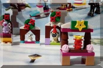 Lego Friends advent calendar cake stall