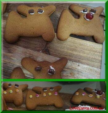 Decorating gingerbread reindeer
