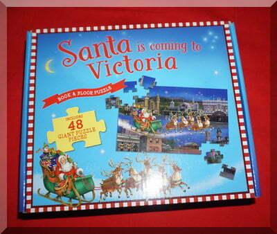 Puzzle box of Santa comes to Victoria