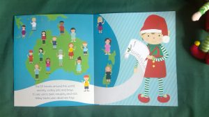 Map of Australia and New Zealand inside The Christmas Elf book