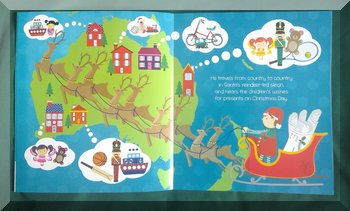 Map of Australia and New Zealand Aussie kids dreaming inside The Christmas Elf book