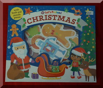 Front cover of Let's Pretend Christmas book and piezes