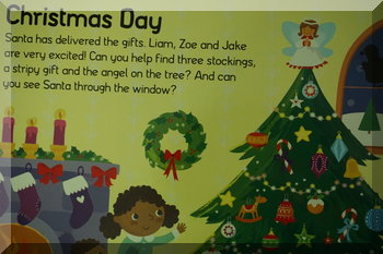 Inside pages of the Let's Pretend Christmas book