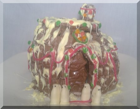 chocolate igloo in a snow storm!