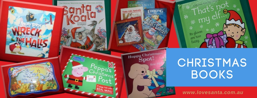Love Santa book reviews - a collage of covers