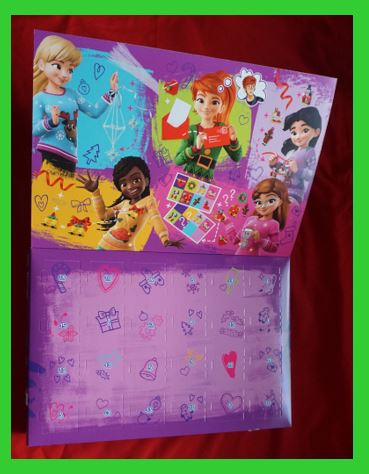 count down part of the Lego Friends advent calendar box for 2018