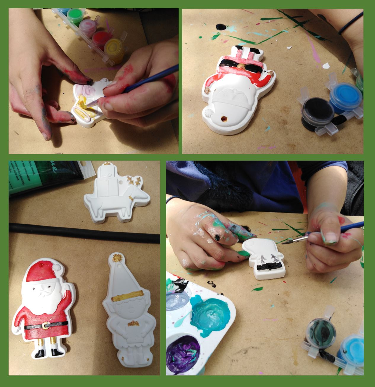 images of children painting ornaments