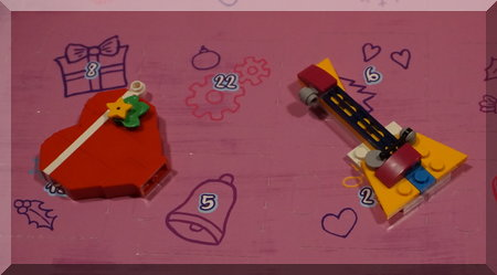 Lego guitar and heart on an advent calendar