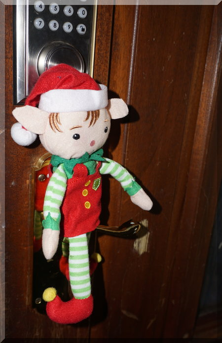 Front door elf welcome!