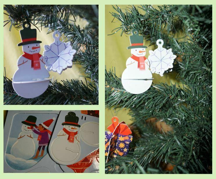 Snowman cardboard ornament
