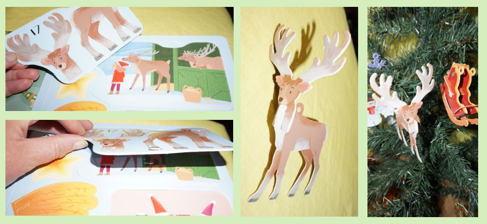 Images of the press out reindeer ornament