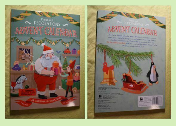 Press out decoration advent calendar covers