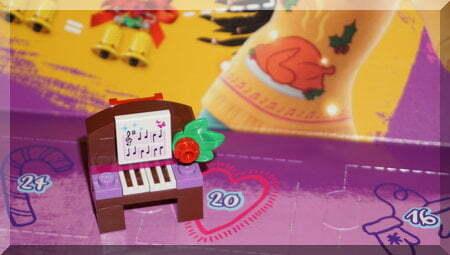 Lego piano ornament