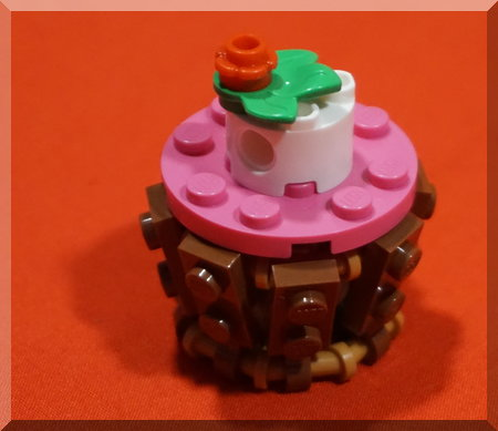 Lego cupcake Christmas ornament