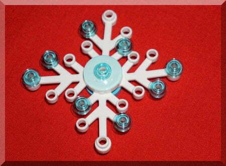 Lego snowflake ornament