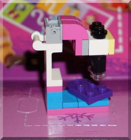 Lego microscope ornament