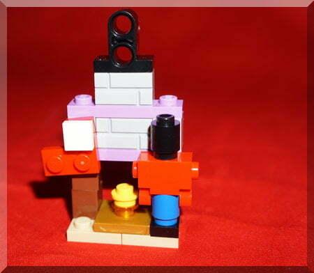 Lego Friends fireplace and nutcracker