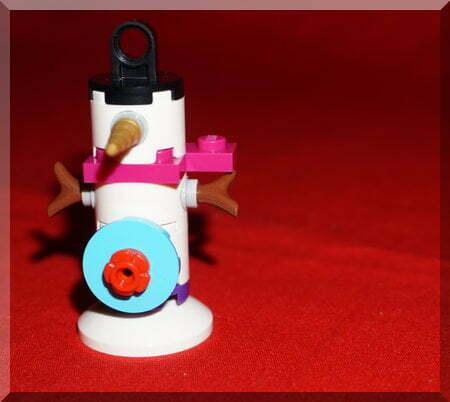 Lego snowman ornament