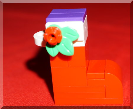 Lego stocking ornament