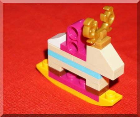 Lego rocking horse ornament