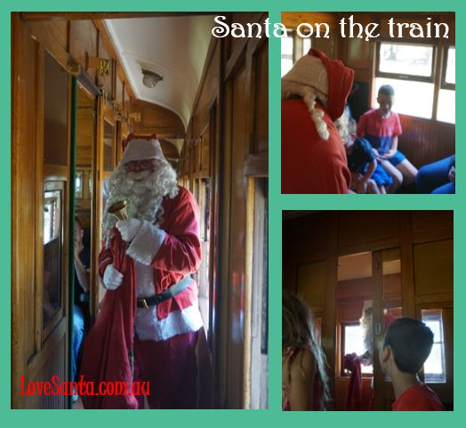 Santa on Mornington Rail train