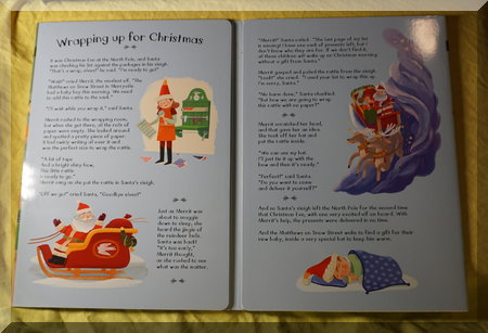 the two story pages of the advent calendar
