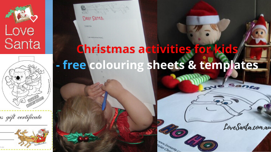 Love Santa offers Christmas activities and crafts to download for free
