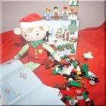 A Lego Christmas train takes shape...
