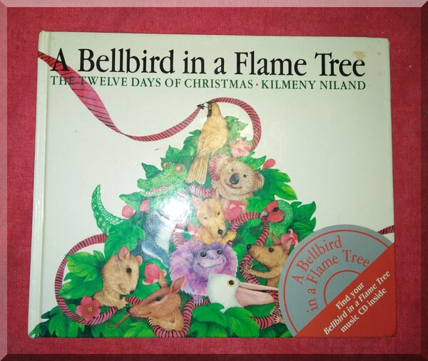 Book cover of a bellbird in a flame tree