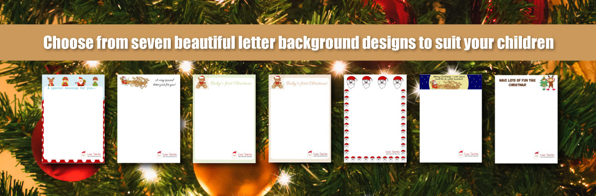 Australian Christmas Santa Letter Designs to Choose from